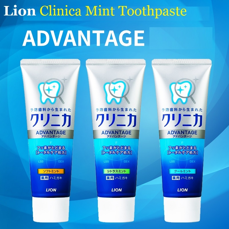 3pcs Japan Lion Clinica Mint Toothpaste Dental Daily Use Whitening