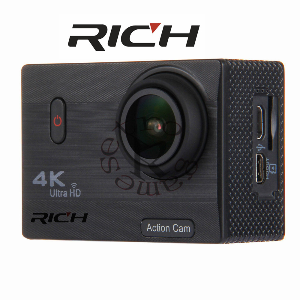 F69 4k Wide Angle Action Camera Waterproof HD Screen Support SD Card Memory Expandable Up To 128GB