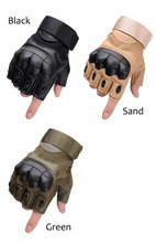 Sale Us Army Mens Tactical Gloves Outdoor Sports Half Finger Military Combat Anti-Slip Carbon Fiber Shell