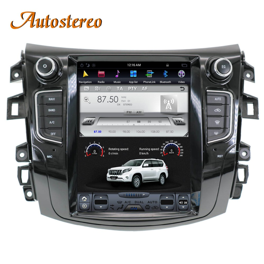 Tesla style Android Car GPS Navigation For NISSAN NP300 Navara 2014+ multimedia tape radio
