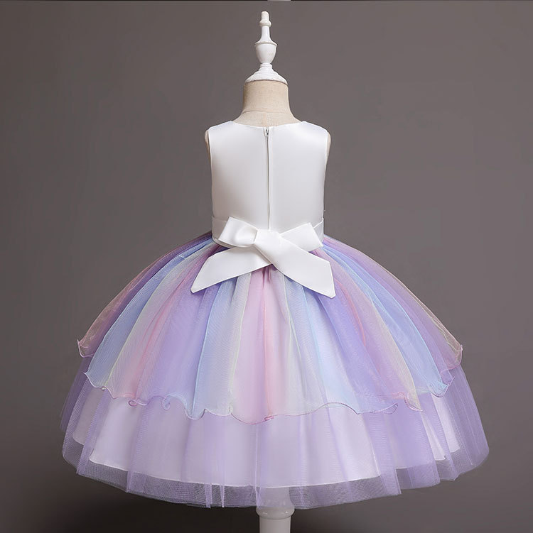 New Unicorn Dress for Girls Embroidery Ball Gown Baby Girl Princess Birthday Dresses for Party Costumes Children Clothing
