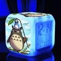 Figura de ação brinquedo Crianças ledclock Totoro Anime Japonês Dos Desenhos Animados Desktop Digital Led Cor da Luz Do Vintage