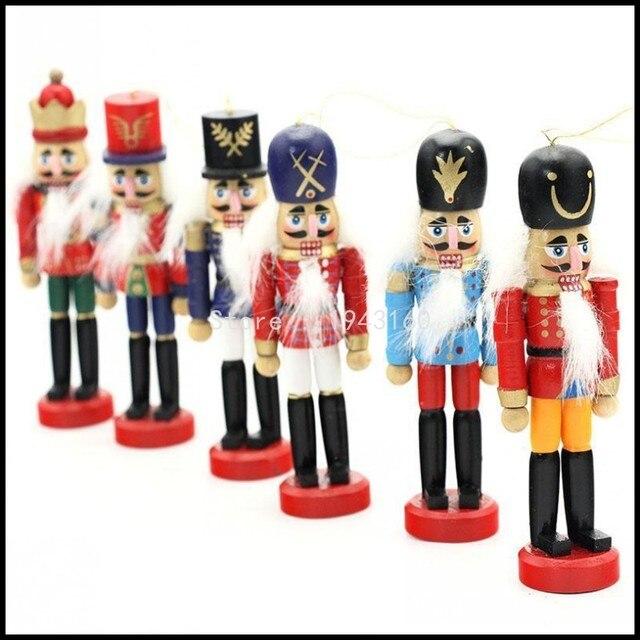 6pscset christmas nutcracker soldier christmas decoration santa claus doll wooden nutcracker ornaments best new