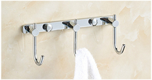 Modem Brass Chrome Finish Robe Hook Kitchen Door Rear Coat Clothes 3 6 Hooks Hotel Bathroom