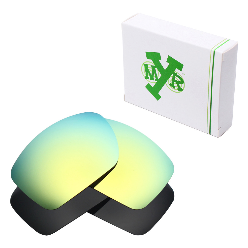 826bf86a90 2 Pairs Mryok POLARIZED Replacement Lenses for Oakley Big Taco Sunglasses  Stealth Black   24K Gold