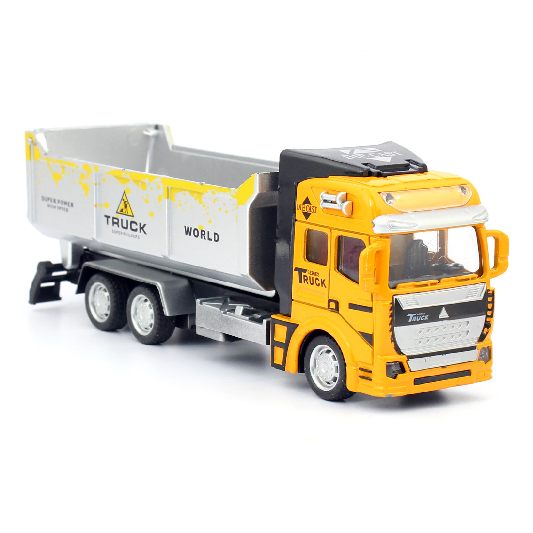 22*10*6.5cm 1:48 Alloy Pull Back Engineer Truck Educational Engineering Dump Truck Toys Car For Childrens Kids Gift