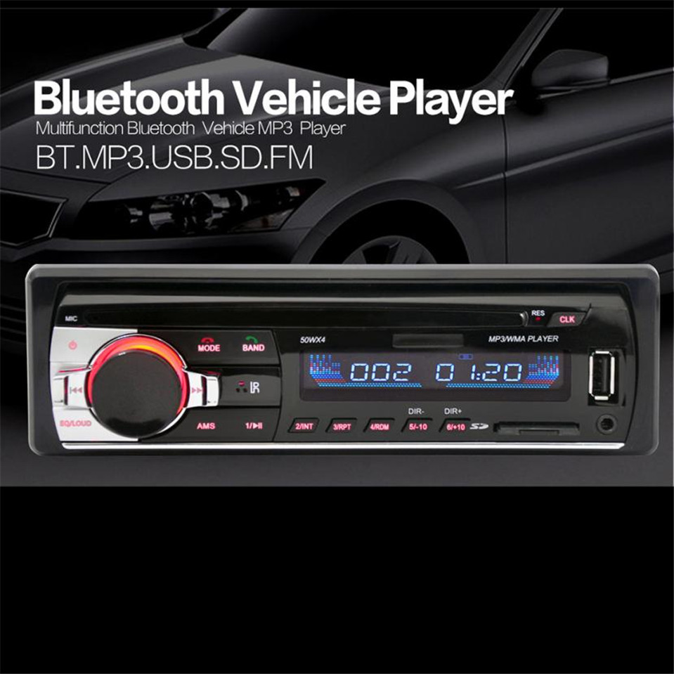 100% new JSD 520 Bluetooth Car In Dash Stereo FM AUX Receiver Audio 1 DIN USB MP3 Radio Car Styling USB/SD/MP3/WMA/WAV player #2