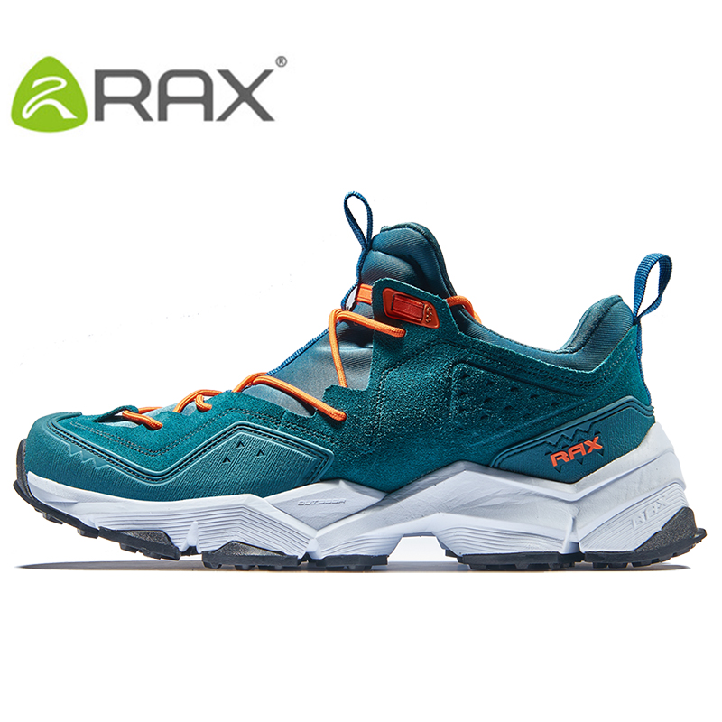RAX Mens Leather Breathable Outdoor Hiking Shoes Mountainering Shoes Trial Trekking Backpacking Climbing Shoes For Men