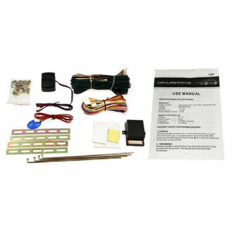 Kit de verrouillage Central de porte 2 télécommandes de voiture sans clé sirène d'alarme de voiture - 4