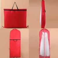 180 سنتيمتر طويلة غير المنسوجة النسيج طوي شنقا منظمي حقيبة النساء اللباس فساتين الزفاف الغبار غطاء الغبار غطاء التخزين حقيبة