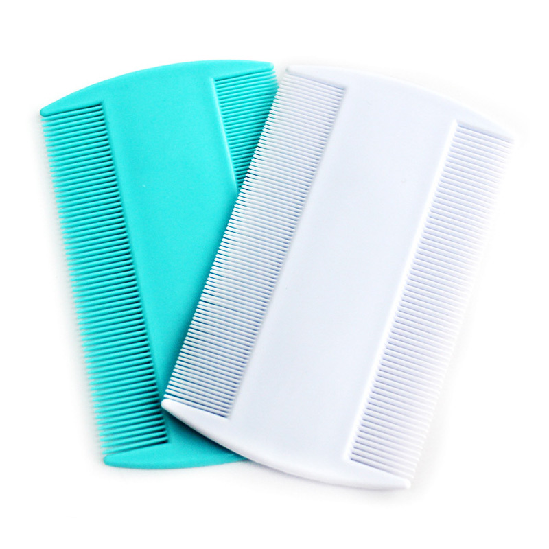 2pcs Narrow Tooth Comb Lice Flea Flat Brush Cootie Delousing Head Lice Anoplura Dandruff Beauty Combs (Random Color )