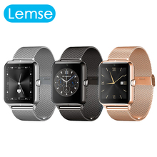 LF11 Bluetooth Reloj Inteligente Para Apple Android Apoyo 2 Tarjeta SIM TF GInternet Metal Usable Dispositivos SmartWatch Facebook Twitter