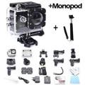 GoPro hero 3 style SJ4000 go pro camera 30M Waterproof 1080P Full HD DVR Sport action Camera + Monopod