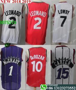 Free shipping Toronto Mens Adult  2 Kawhi Leonard 7 Kyle Lowry 1 Tracy  McGrady 10 DeMar DeRozan 15 Vince Carter Jersey e6b8f80c4