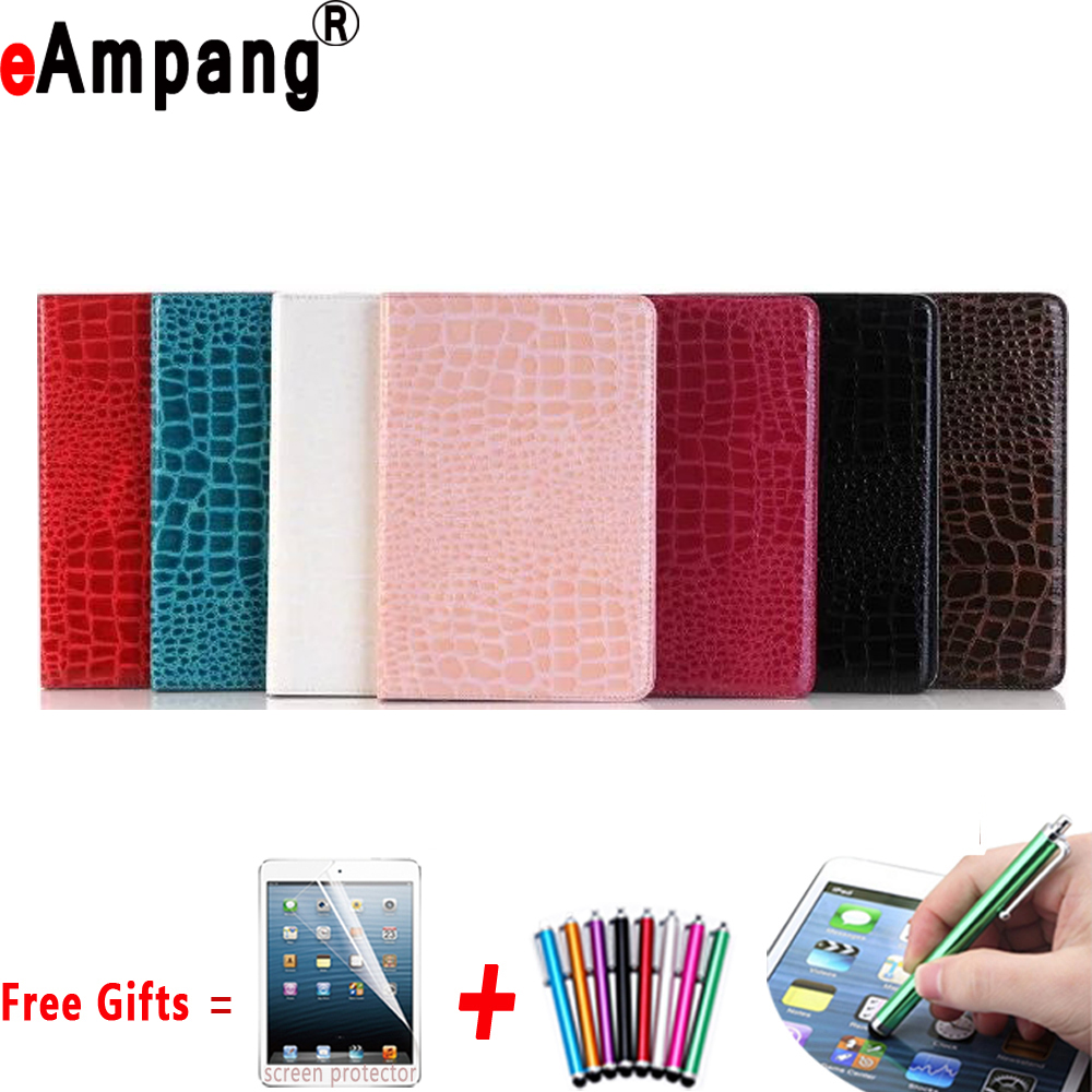 Crocodile Cover for Apple ipad Pro 9.7 Case High Quality Leather Case for iPad Pro 9.7 Cover with Stand Holder and Card Slot new animal cartoon tiger owl pu leather stand for apple ipad pro 9 7 case with card slot protector back cover stylus