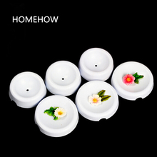 6PCS/Lot Plastic Cake Flower Drying Mold Dia 6/5/4cm Cake Decorative Fondant Flower Button Shape Drying Former Holding Cup Tool