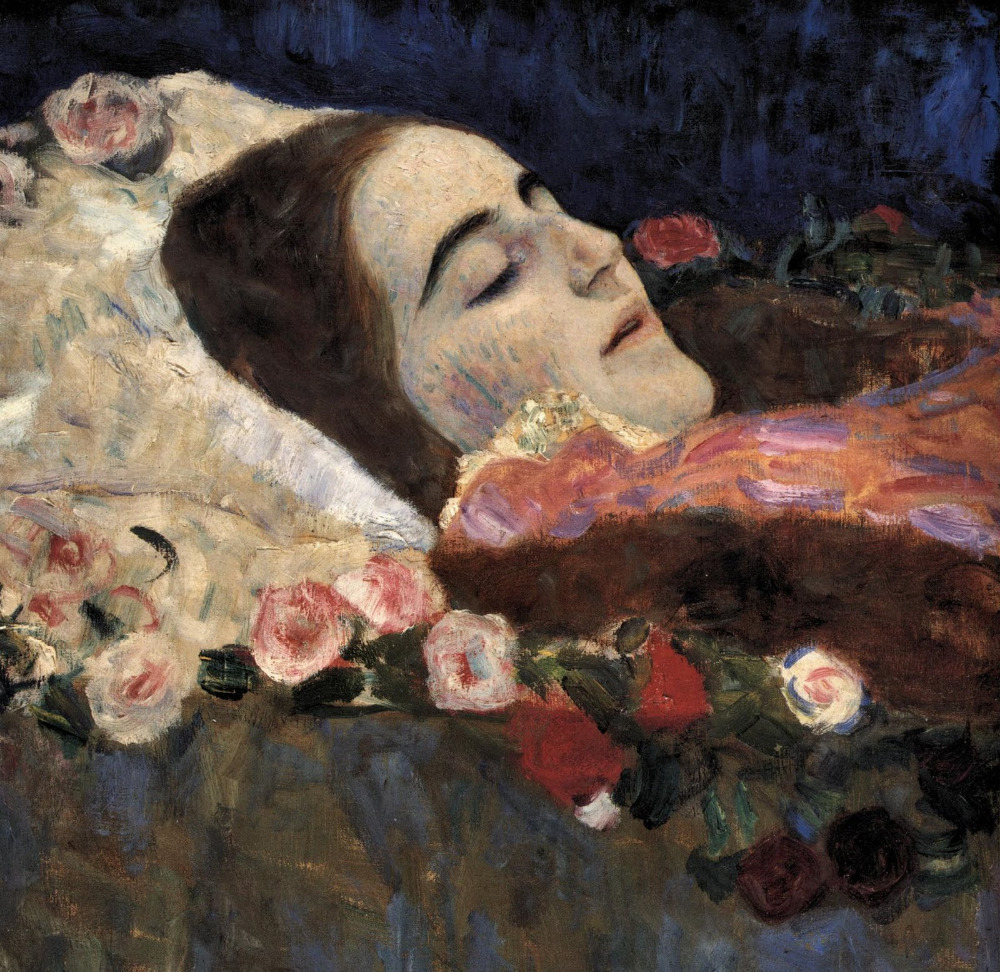 Handmade oil painting reproduction Ria Munk On Her Deathbed by Gustav KlimtHandmade oil painting reproduction Ria Munk On Her Deathbed by Gustav Klimt