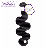 Fabbabes Hair Products Brazilian Remy Hair Body Wave 1 Piece 100% Human Hair Weave Bundles Hair Weaving