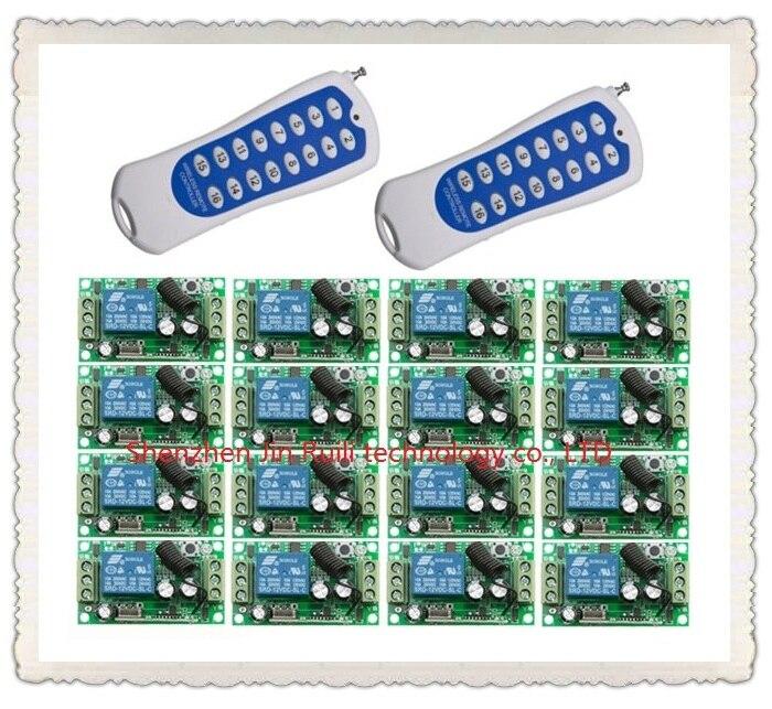 16CH Controle 16 Stks 1 Kanaals 1CH DC 12 V 10A Relais Ontvangers Draadloze Lamp Systeem JRL 4280-in Afstandsbedieningen van Consumentenelektronica op  Groep 1