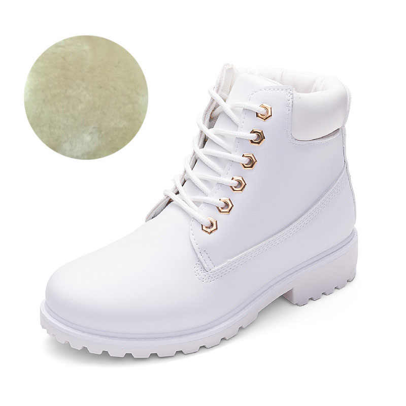 4def9208 Новинка 2019, осенне-зимняя обувь, женские зимние ботинки, теплые плюшевые  ботинки для