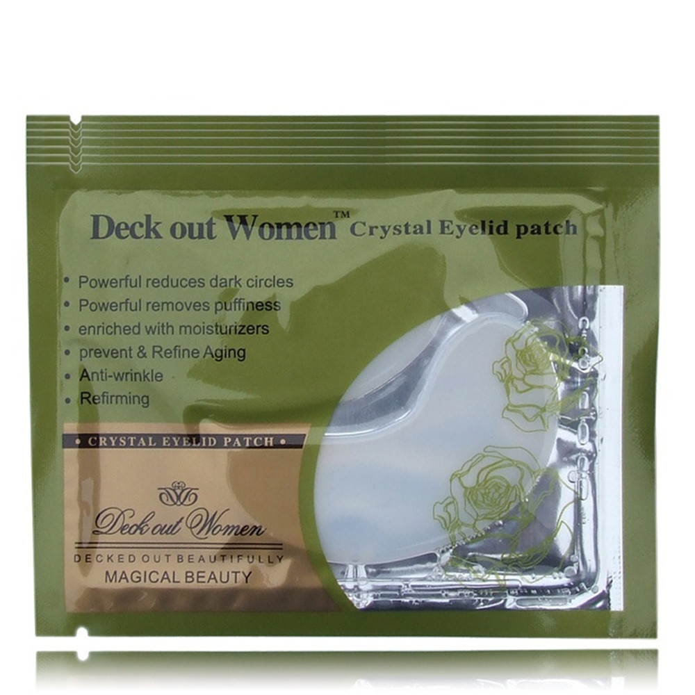 [40pcs/lot] Deck Out Women Crystal Eyelid Patch Anti-Wrinkle Crystal Collagen Eye Mask Remove Black Eye Face care 4