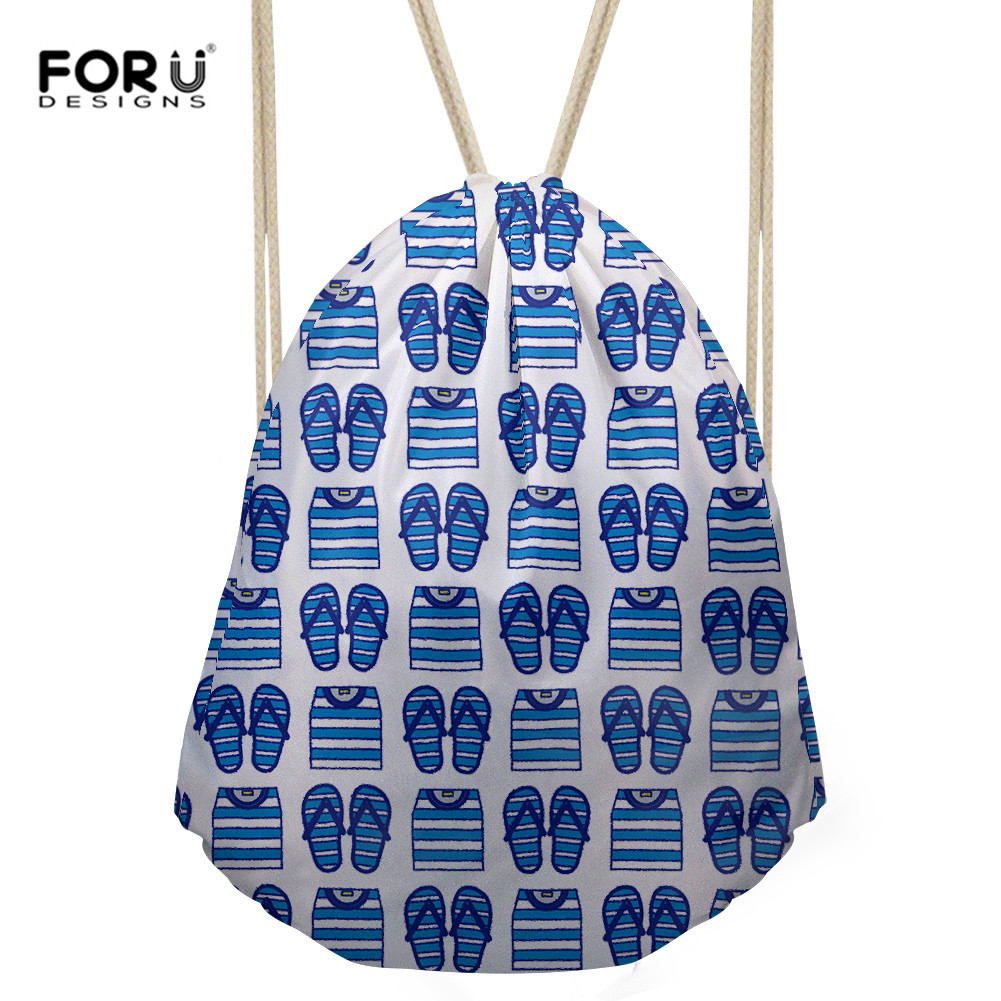 FORUDESIGNS Drawstring Backpacks Fashion Travel Clothing Shoes Towel Storage Bag Drawstring Rucksack For Women Men Wholesale Sac