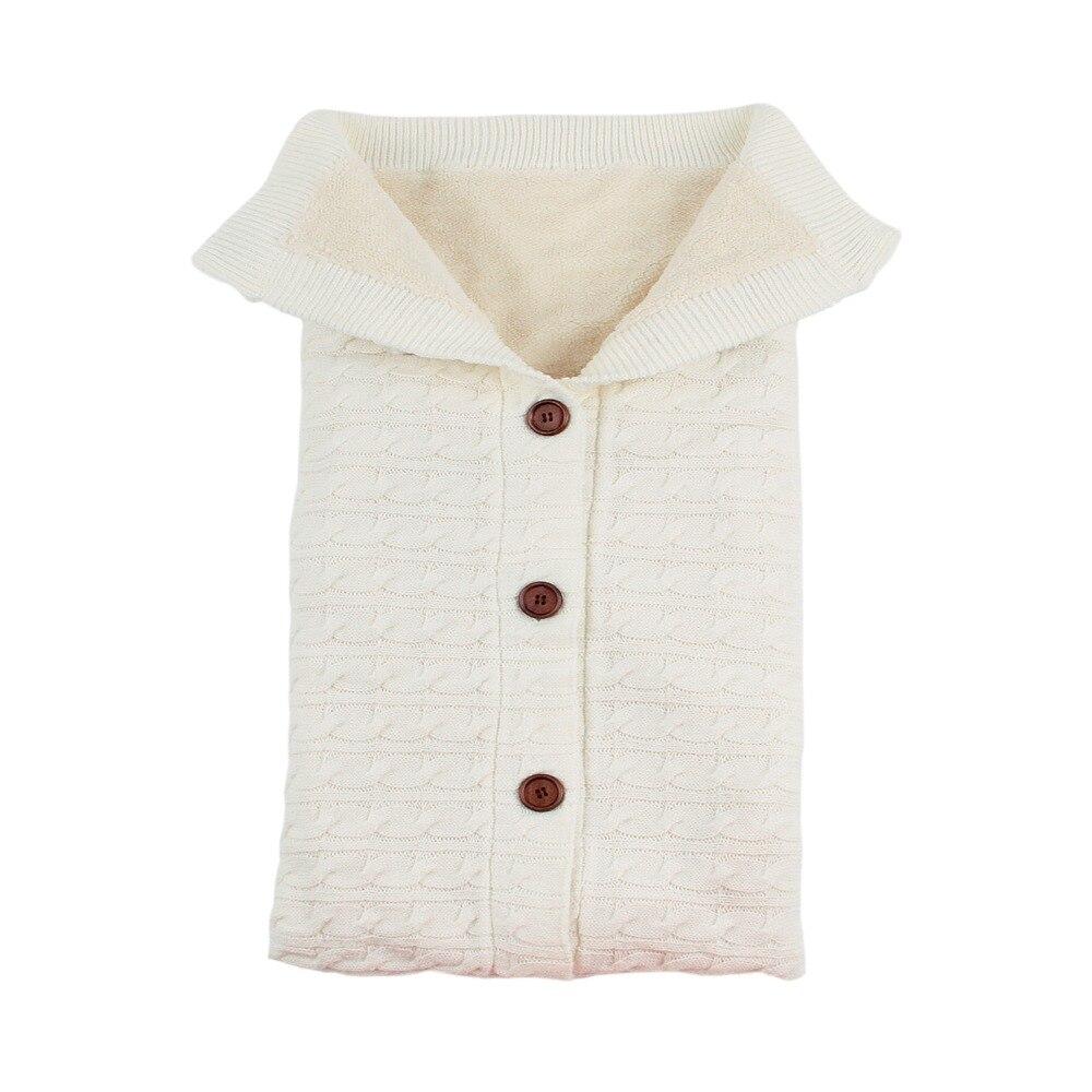 Fall Winter Newborn Swaddle Wrapper Blanket Fashion Solid Knitted Envelopes For Infant Kids Baby Sleepsack Children Sleeping Bag