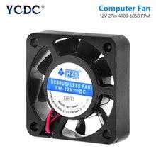 YCDC видеочипом кулер охлаждения вентилятор AC/DC 12V 4010 модель 40 мм 2 Pin PC Вентилятор 40x40 мм 2 Pin черный Настольный Процессор радиатора