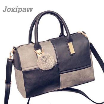 Woman Bag 2018 New Pillow Type Woman Shoulder Bag Geometric Pattern Woman Boston Bag Shopping Trip Large Capacity Woman Handbag