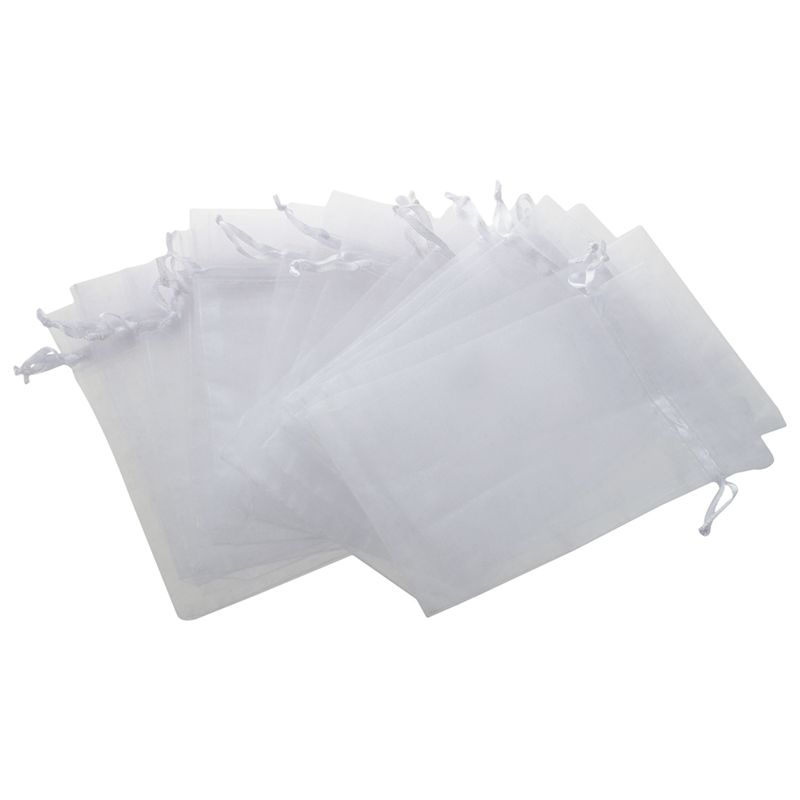 100x Gauze Organza Gift Bag Jewelry Packing Pouch Wedding Favor Gift Bags 7x9cm