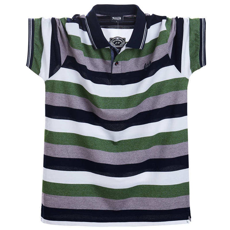 Men Polo Shirt Summer Men Casual Breathable Plus Size 5xl Striped Short Sleeve Polo Shirt Cotton Business Men Clothes Tops Tees