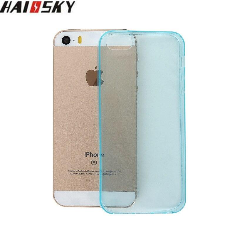 Clear case para iphone 5 5s se haissky transparente ultra fino case soft tpu car