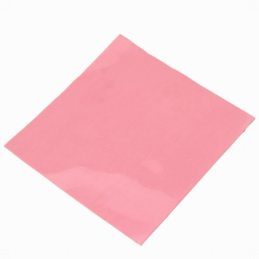 1 Piece Gdstime 100mm x 1mm Thermal Conductive Silicone Pad Laptop GPU CPU Heatsink Cooling Pink 100x100x1mm 1cm high thermal conductivity cpu heat sink 4 5 200 400mm entire thermal conductive silicone piece light blue led silicone piece