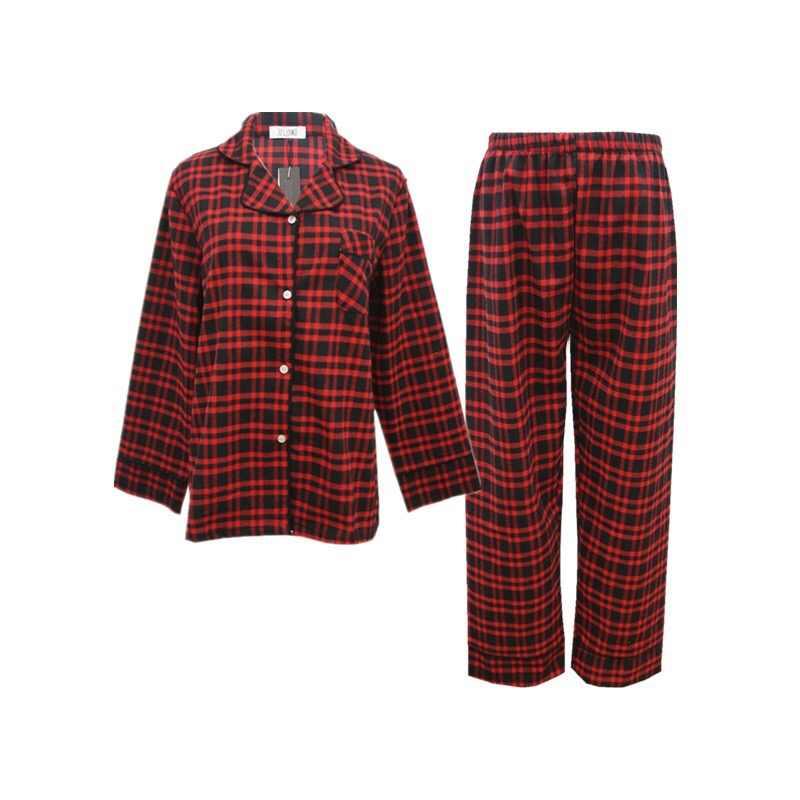 נשים של חורף חליפות זוג Pyjama סט 2018 קוריאני נשים פיג 'מה כותנה פיג' מות שרוול ארוך גבירותיי הלבשת בתוספת גודל M-XXL