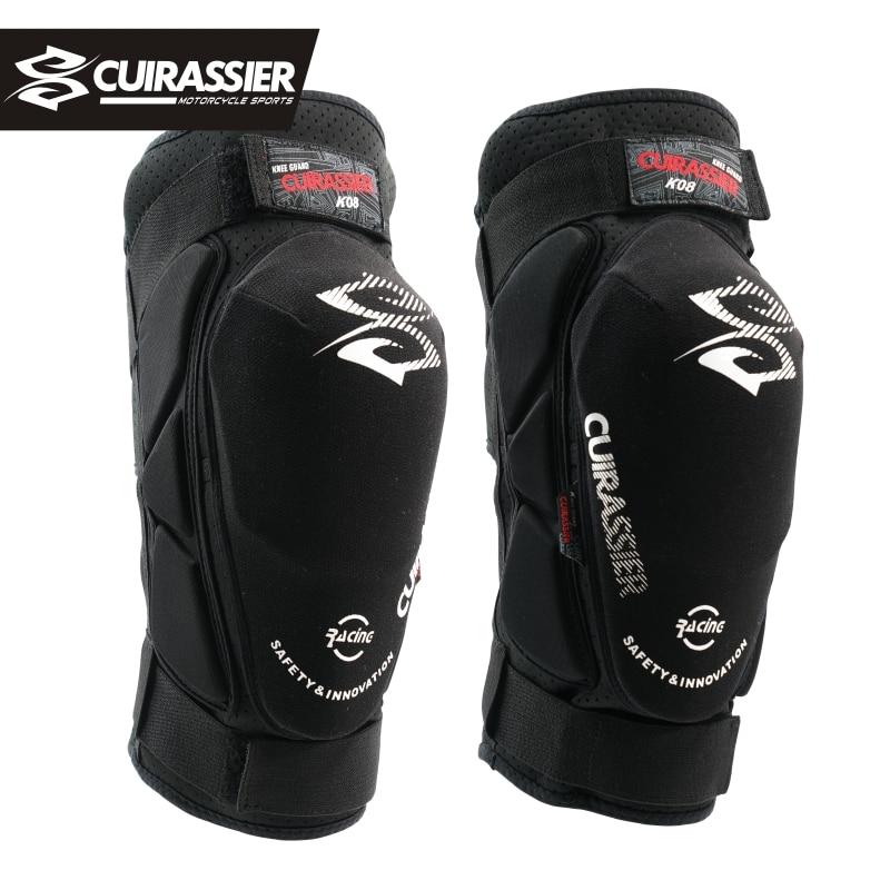 цена на Cuirassier K08 Motorcycle Knee Pads Motocross Knee Protector Guards MTB Kevlar Protective Kneepad Moto Knee Brace Support Gear