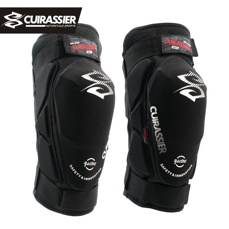 Cuirassier K08 Motorcycle Knee Pads Motocross Knee Protector Guards MTB Kevlar Protective Kneepad Moto Knee Brace Support Gear