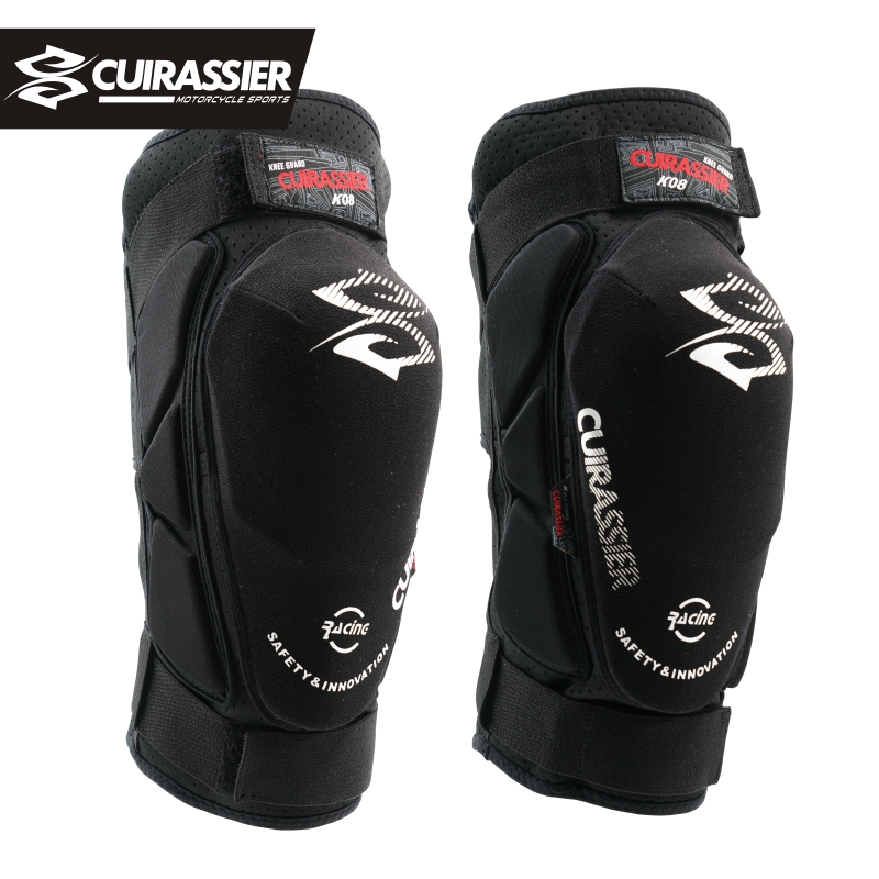 Cuirassier K08 Motorcycle Knee Pads Motocross Knee Protector Guards MTB Kevlar Protective Kneepad Moto Knee Brace Support Gear