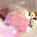 100 Unids Galletas Galletas Dulces Bolsa de Plástico de Regalo de Navidad Bolsas de Celofán Para Huéspedes de La Boda decoración de Fiesta de Cumpleaños Embroma Fuentes