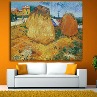 Canvas Painting Artwork By Vincent Van Gogh The Harvest Oil Painting Canvas Reproduction Landscape Painting Wall Art Paintings