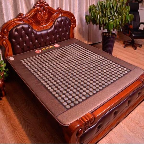 High Quality Germanium Far Infrared Negative Ion Jade Mattress Electric Jade Bed Mattress Massager Mat 1.2X1.9M Free Shipping