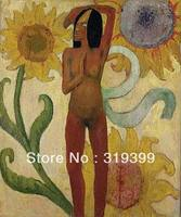 Paul Gauguin Peinture À L'huile Reproduction sur toile de Lin, Des Caraïbes Femme, 100% fait main, Bateau Rapide, Musée Qualité