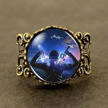 Anime SAO Sword Online Cosplay Toy Men brass silver Ring steampunk Jewelry Gift women new boy