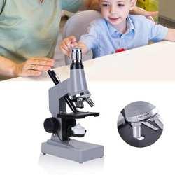 Студенческий Биологический микроскоп комплект лаборатории светодио дный 1200X Наука Обучающие игрушки Высокое качество Главная Школа Наука