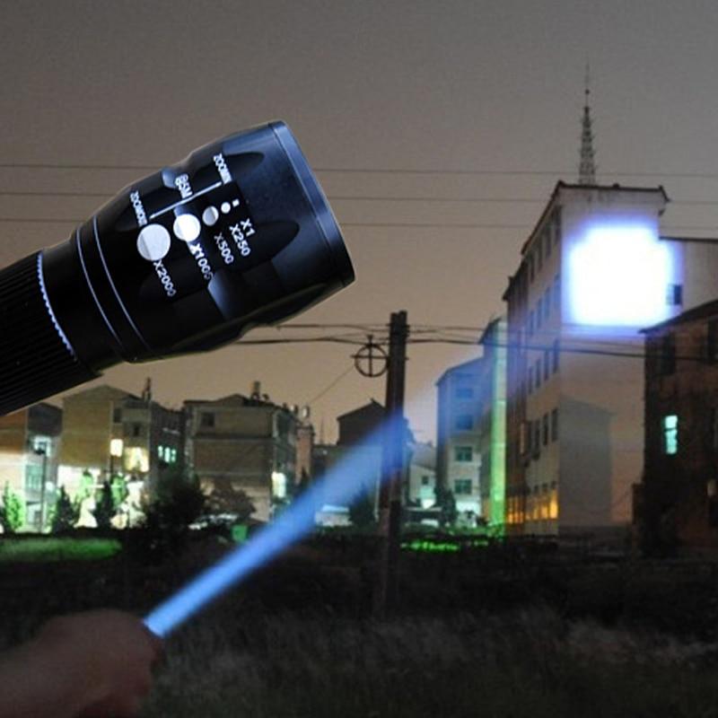 Mini torche LED lampe de poche réglable Zoom lanterne lampe poche avant Penlight chasse Camping randonnée AAA batterie lumières