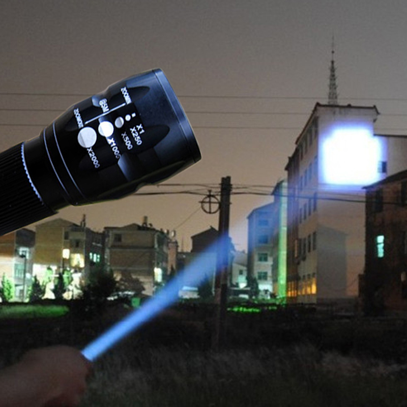 Mini LED Torch Flashlight Adjustable Focus Zoom Lantern Lamp Front Pocket Penlight Hunting Camping Hiking AAA Battery Lights