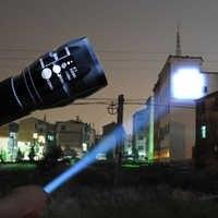 Mini linterna LED linterna de enfoque ajustable linterna con zoom lámpara de bolsillo frontal Penlight caza Camping senderismo AAA luces de batería