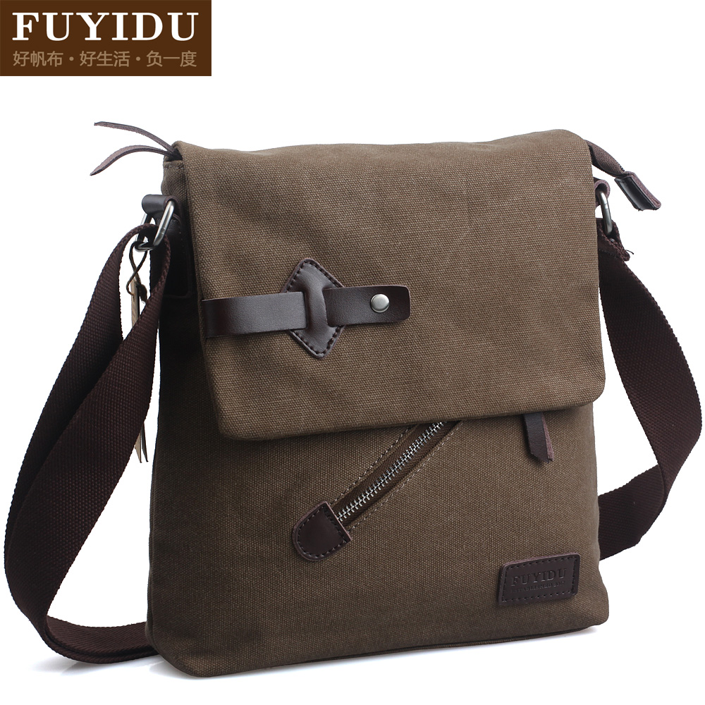ФОТО New Fashion men's canvas casual bag, men canvas messenger bag with shoulder belt, high quality trendiest design, free shipping