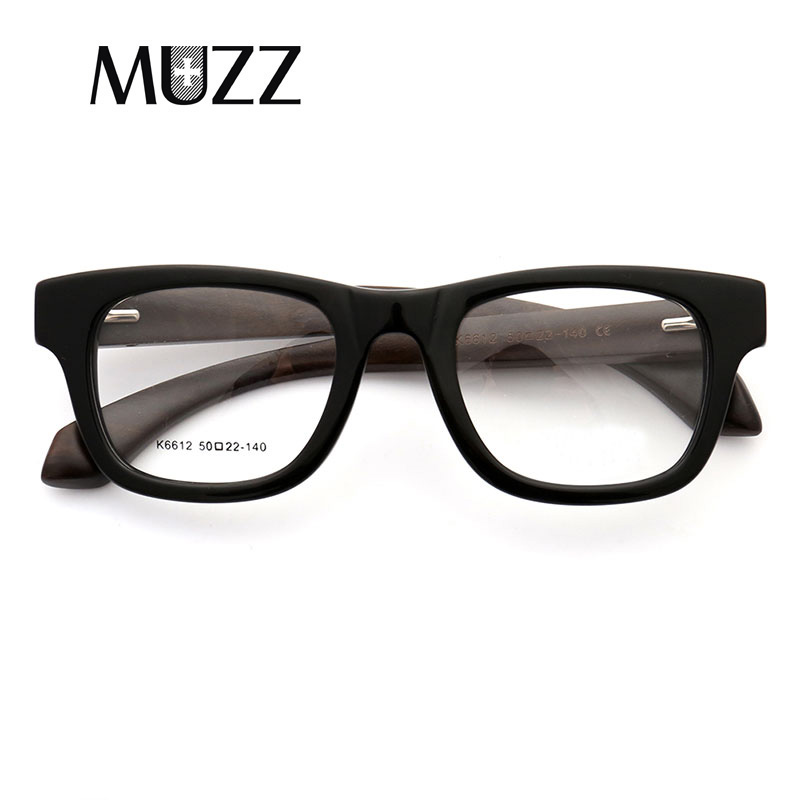 8c19d236c2 MUZZ Wood Grain Retro Male Optical Men Glasses Clear Acetate Glasses Frames  prescription Eyeglasses Frame -in Eyewear Frames from Apparel Accessories  on ...