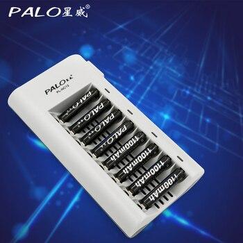 الأصلي بالو C808W 8 فتحات مؤشر ضوء الشواحن الذكية ل AA/AAA Ni mh/Ni Cd بطاريات بطارية قابلة للشحن شاحن-في شواحن من الأجهزة الإلكترونية الاستهلاكية على