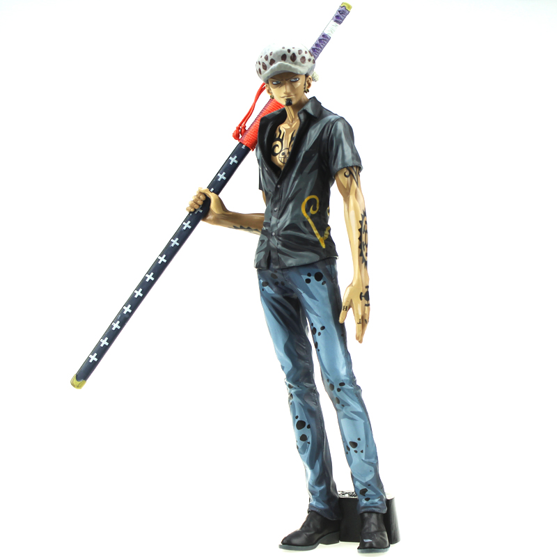 11.5 One Piece Anime Shichibukai Trafalgar Law Cartoon Color Ver. Boxed 29cm PVC Action Figure Collection Model Doll Toys Gift 2pcs set one piece trafalgar law corazon anime collectible action figure pvc toys for christmas gift with retail